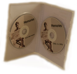 view of sample dvd inside their case